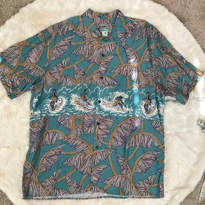 REYN SPOONER Short SLEEVE Sz XXL Full Cut Mens Haw